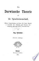 Die Darwinsche theorie und die sprachwissenschaft, offenes sendschreiben an Herrn Dr. Ernst Häcke