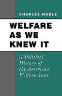 Welfare As We Knew It [Pdf/ePub] eBook