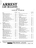 Arrest Law Bulletin
