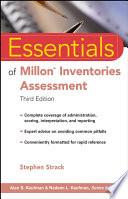 Essentials Of Millon Inventories Assessment Book PDF