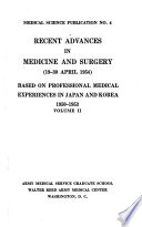 Recent Advances in Medicine and Surgery (19-30 April 1954)