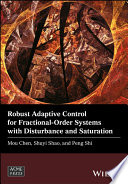 Robust Adaptive Control for Fractional Order Systems with Disturbance and Saturation Book