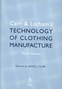 Carr and Latham s Technology of Clothing Manufacture Book