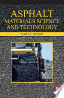 Asphalt Materials Science and Technology Book