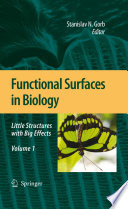 Functional Surfaces in Biology Book