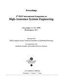Proceedings  4th IEEE International Symposium on High Assurance Systems Engineering  November 17 19  1999  Washington  D C