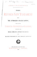 The Revised New Testament from the Authorized English Edition