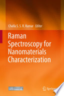 Raman Spectroscopy for Nanomaterials Characterization Book