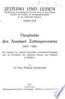 Geschichte des Aussiger Zeitungswesens (1857-1901)