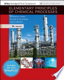Elementary Principles of Chemical Processes, WileyPLUS NextGen Card with Abridged Loose-Leaf Print Companion Set