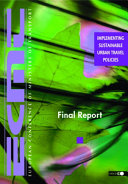 Implementing Sustainable Urban Travel Policies Book PDF