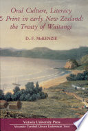 Oral Culture Literacy Print In Early New Zealand