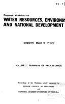 Water Resources  Environment  and National Development  Summary of proceedings  v  2  Selected papers