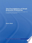 The Foundations of Small Business Enterprise