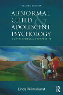 Abnormal Child and Adolescent Psychology Pdf/ePub eBook