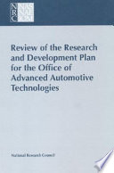 Review of the Research and Development Plan for the Office of Advanced Automotive Technologies