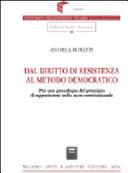 Dal diritto di resistenza al metodo democratico