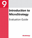 Evaluation Guide  Windows  for MicroStrategy 9  3  1