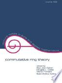 Commutative Ring Theory