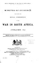 Report of His Majesty s Commissioners Appointed to Inquire Into the Military Preparations and Other Matters Connected with the War in South Africa