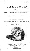 Calliope  Or  The Musical Miscellany