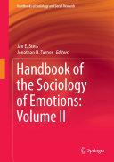 Handbook of the Sociology of Emotions: