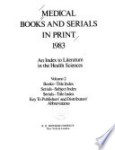 Medical Books and Serials in Print