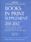 Books In Print Supplement 2011 2012