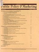 Journal Of Public Policy Marketing Jpp M Book PDF