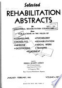 Selected Rehabilitation Abstracts For Vocational Rehabilitation Counselors