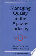 Managing Quality in the Apparel Industry Book