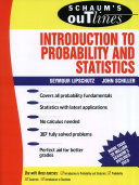Schaum s Outline of Introduction to Probability and Statistics