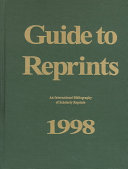 Guide to Reprints  1998