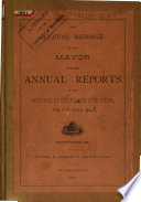 Annual Reports of the Officers of Salt Lake City  Utah