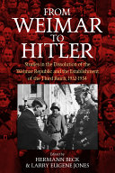 From Weimar to Hitler Pdf/ePub eBook