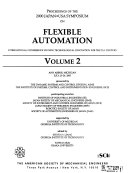 Proceedings of the Japan U S A  Symposium on Flexible Automation Book