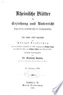 Rheinische Blätter für Erziehung und Unterricht