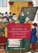 Pdf Histoire de l'enseignement en France - XIXe-XXIe siècle Telecharger