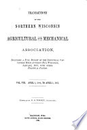 Transactions of the Northern Wisconsin Agricultural and Mechanical Association