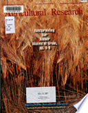 Agricultural Research