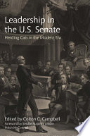 Leadership in the U S  Senate