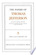 The Papers Of Thomas Jefferson Volume 3