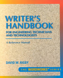 Writer S Handbook For Engineering Technicians And Technologists