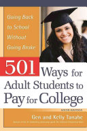 501 Ways for Adult Students to Pay for College Book