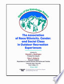 State of the knowledge report the association of race ethnicity, gender, and social class in outdoor recreation experiences