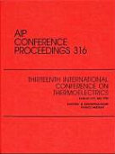 Thirteenth International Conference on Thermoelectrics