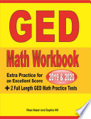 GED Math Workbook 2019   2020