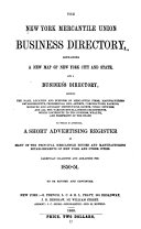 The New York Mercantile Union Business Directory