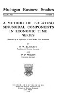 A Method Of Isolating Sinusoidal Components In Economic Time Series