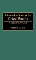Information Sources for Virtual Reality